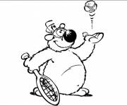 Coloring pages Funny dog playing tennis