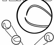 Free coloring and drawings Stylized Tennis Ball Coloring page