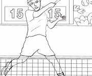 Free coloring and drawings Tennis match Coloring page