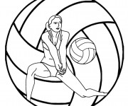 Coloring pages Beach-Volley