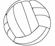 Coloring pages Easy Volleyball