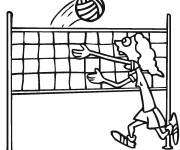 Coloring pages Funny volleyball player