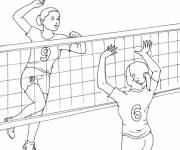 Coloring pages Maternal volleyball