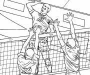Coloring pages Professional volleyball
