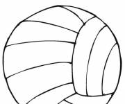 Coloring pages Sport the Volleyball