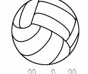 Coloring pages Stylized Volleyball