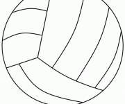 Coloring pages The Volley Ball