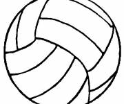 Coloring pages Volleyball ball