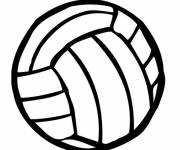 Coloring pages Volleyball ball in black