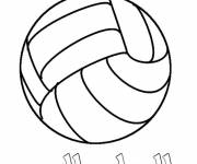 Coloring pages Volleyball collective sport