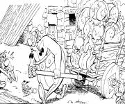 Coloring pages Asterix and The Powerful Obelix