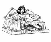 Coloring pages Asterix Cleopatra online