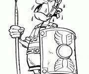 Coloring pages Roman in Asterix