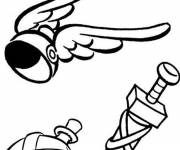 Coloring pages The equipment of Asterix