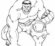Coloring pages Angry avengers hulk