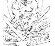 Coloring pages Avengers Hulk Demolisher
