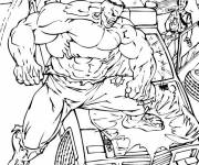 Coloring pages Avengers Hulk Demolishes A Car