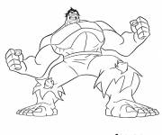 Coloring pages Avengers Hulk Disney