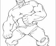 Coloring pages Avengers Hulk simple