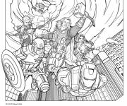 Coloring pages Color avengers