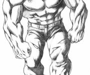 Coloring pages Hulk character in black and white