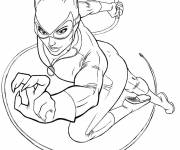 Free coloring and drawings Batgirl for Girl Coloring page