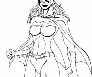 Free coloring and drawings Supergirl Coloring page