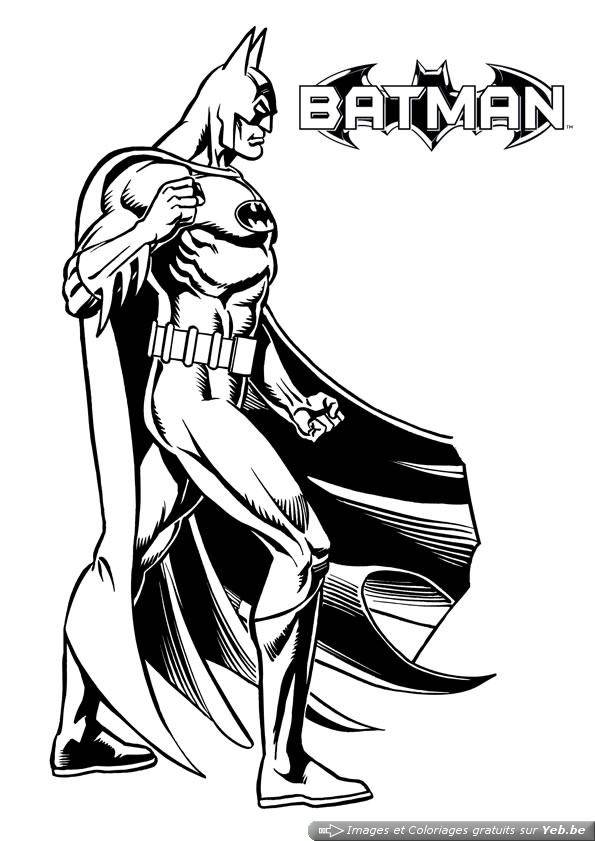 Free coloring and drawings A Batman Movie Poster Coloring page