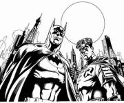 Free coloring and drawings Batman and Robin Coloring page