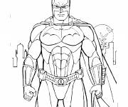 Free coloring and drawings Batman easy Coloring page