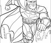 Free coloring and drawings Batman Poster Coloring page