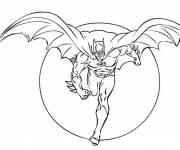 Free coloring and drawings Batman releases Night Coloring page