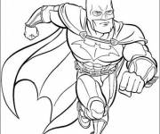 Free coloring and drawings Batman to cut out Coloring page