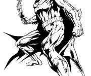 Free coloring and drawings Batman wearing his Uniform Coloring page