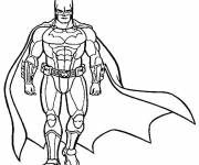 Free coloring and drawings Stylized batman Coloring page