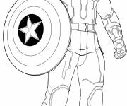 Coloring pages Captain America Avengers Age Of Ultron