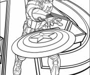 Coloring pages Captain America Avengers Poster