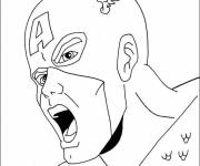 Coloring pages Captain america head
