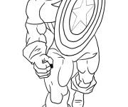 Coloring pages Captain America in pencil