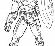 Coloring pages Captain America in Vector