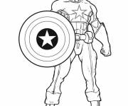 Coloring pages Captain America Super Hero