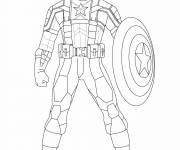Coloring pages Captain America to cut out