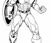Coloring pages Image of Captain America