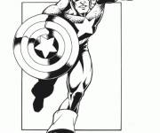 Coloring pages Stylized Captain America