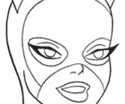 Coloring pages The Catwoman Mask