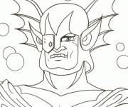 Coloring pages Goldorak Head of Zuril
