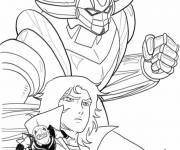 Coloring pages Goldorak in black and white