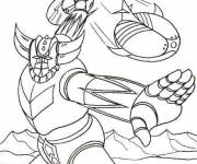 Coloring pages Goldorak in color