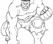 Coloring pages Angry hulk