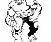 Coloring pages Avengers Hulk in black and white